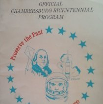 Image of Official Chambersburg Bicentennial Program - Preserve the Past; Forge the Future