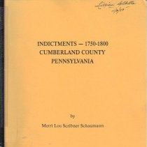 Image of Indictments--1750-1800 Cumberland County Pennsylvania
