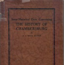 Image of Some Historical Data Concering The History of Chambersburg