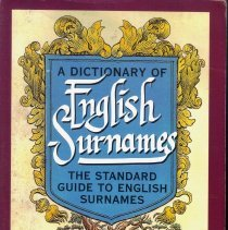 Image of Dictionary of English Surnames.
