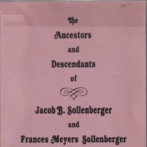 Image of Ancestors and Descendants of Jacob Brechbill Sollenberger and His Wife Frances Meyers Sollenberger.