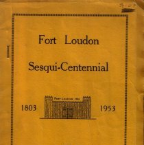 Image of Souvenir of the Sesqui-centennial Reunion of Fort Loudon, Franklin County, Pennsylvania: Commenorative of the Founding of the Town [1803-1953]. - Prepared by Executive Officers of the Fort Loudon Sesqui-Centennial Committee.