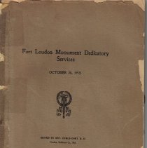 Image of Fort Loudon Monument Dedicatory Services, October 20, 1915.
