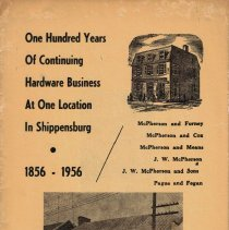 Image of One Hundred Years of Continuing Hardware Business at One Location in Shippensburg, 1856-1956.