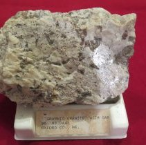 """Image of """"GRAPHIC GRANITE"""" WITH GARNET CRYSTALS - Rock"""