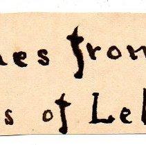 Image of 16.0061 Old Handwritten Label