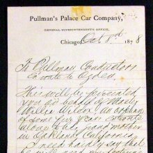 Image of Letter concerning Wilcox's safe travel