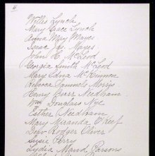 Image of List of members of Homo Chapter, Eastern Star. Stockton, CA 1901