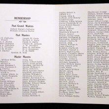 Image of Pocket brochure from San Joaquin Lodge No. 19. Stockton, 1901 (Reverse)