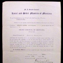Image of Certificate naming Gilbert Haugen of Bismarck as a representative
