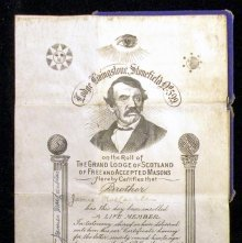 Image of Membership certificate issued to James MacLachlan, Scotland 1913