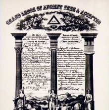 Image of Certificate: Master Mason. Irish Masonic Constitution, 20th century