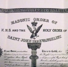 Image of Patent, or membership certificate (detail), belonging to Lafayette Oscar Ho