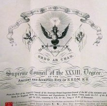 Image of Patent, or membership certificate (detail) belonging to Lafayette Oscar Ho