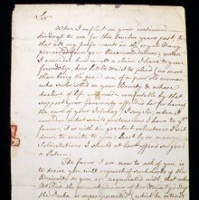 Image of Nov. 1, 1753 letter by Thomas Dunckerley (page 1)