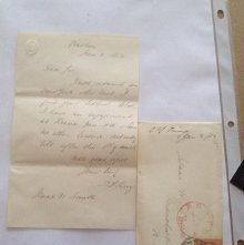 Image of 1854 letter and envelope by Thomas Starr King