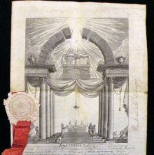 Image of Membership certificate, Royal Arch. New York, 1820
