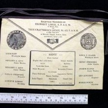 Image of Minature lambskin apron gift from lodge in MA to NY, 1921