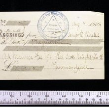 Image of Receipt for one guinea, Chapter Westralia 1904