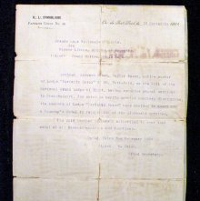 Image of Letter from National Grand Lodge of Egypt (defunct), 1904