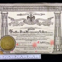 Image of Scottish Rite (S.J.) membership certificate, 1917