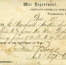 Image of Charles Marshall Austin's War Department Pass, 1863