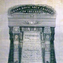 Image of Royal Arch Certificate, Ireland. 1886