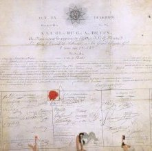 Image of Membership Certificate, Grand Orient of France. 1809 Detail