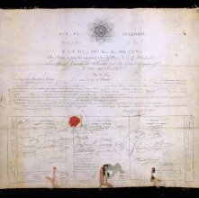 Image of Membership Certificate, Grand Orient of France. 1809