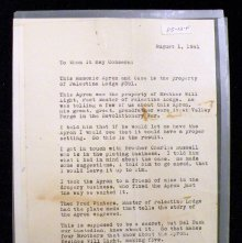 Image of 1941 Letter from five members of Palestine Lodge #351, CA