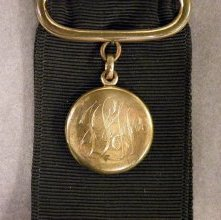 Image of Monogrammed watch fob, late 19th - early 20th century