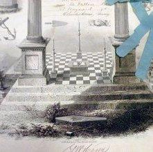 Image of Masonic Certificate, Ohio 1852    Detail Bottom