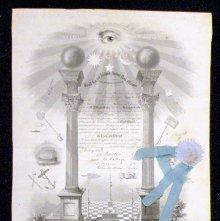 Image of Masonic Certificate, Ohio 1852