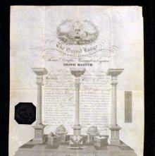 Image of Masonic Certificate, Canada. 1860