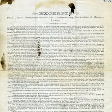 Image of Reverse of 1876 letter by Rob Morris