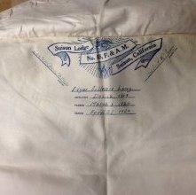 Image of Inscription for apron belonging to Edgar G. Long