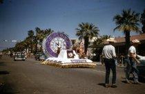 Image of Desert Circus 1957.  Monte Vista Hotel in background.                                                                                                                                                                                                          - 66-108
