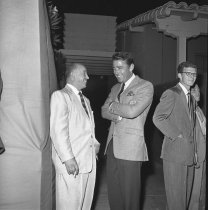 Image of April 13, 1957 Police Show Peter Lawford and Ukie Sheron.                                                                                                                                                                                                      - 74-0718
