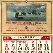 Image of Fleming Lumber & Merc. Co. calendar