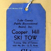 Image of Cooper Hill Ski Tow ticket