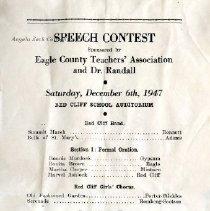 Image of Speech Contest Program, 1947