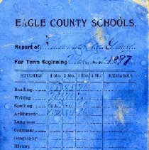 Image of Glanche Gay report card 1897