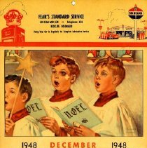 Image of Fear's Standard Service calendar Dec 1948