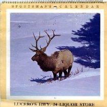 Image of Lucero's Hwy 24 Liquor Store & Gas 1983 calendar