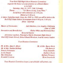 Image of Red Cliff Union High School reunion (inside)