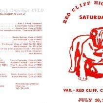 Image of Red Cliff High School reunion invitation 1977