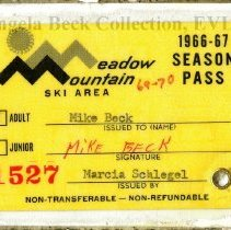 Image of Meadow Mountain Ski Area season pass