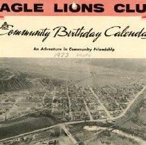 Image of Eagle Lions Club Community Birthday Calendar 1976