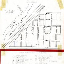 Image of Map of Eagle, 1940, showing businesses