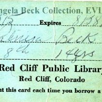 Image of Red Cliff Public Library card